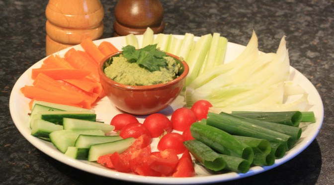 coriander humus for crudites